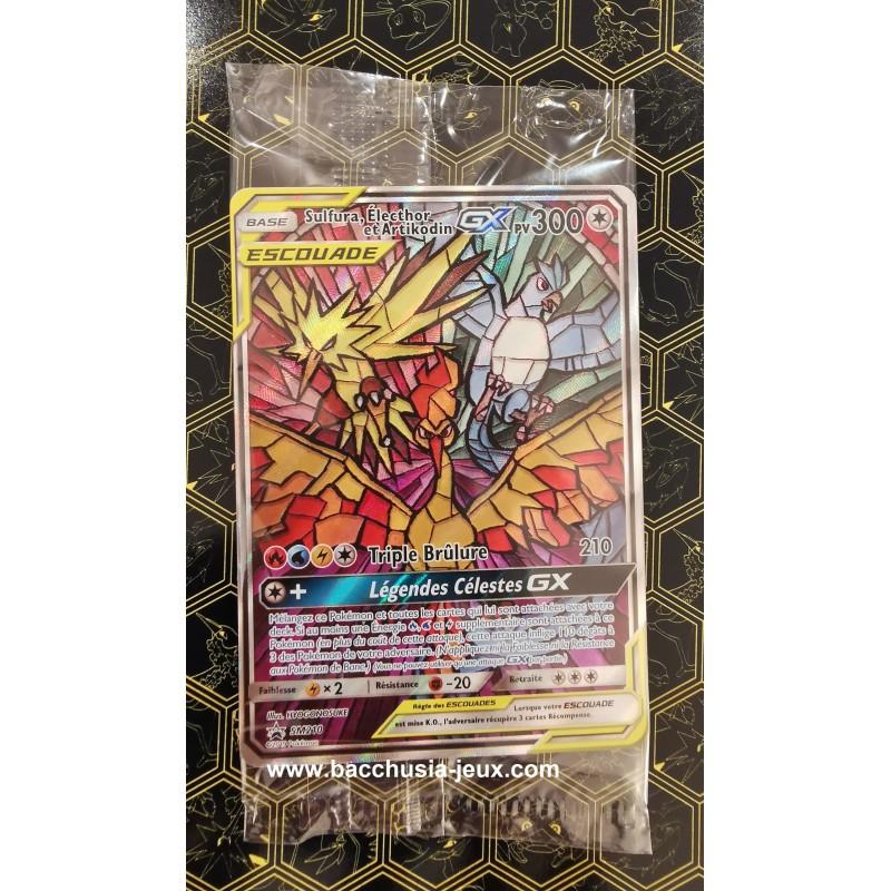 Pokémon Carte Promo SM210 Sulfura, Electhor et Artikodin GX ETB SL11.5