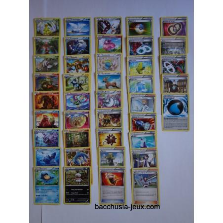 Lot de 41 cartes Peu Communes XY9 rupture turbo