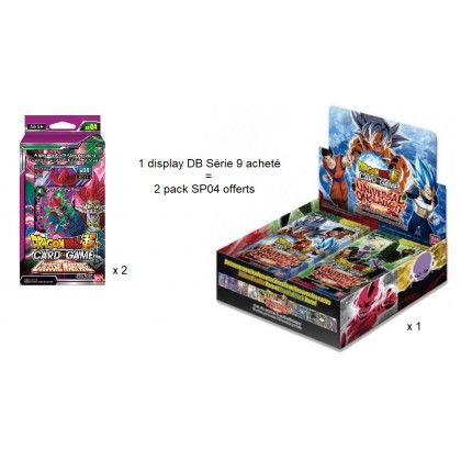 Dragon Ball Super - Boite de 24 Boosters Français - Série 9 - Universal Onslaught
