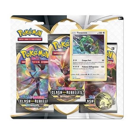 Pokemon Tripack EB02 Clash des Rebelles - Rayquaza