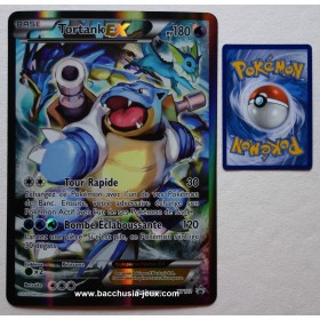 Carte Jumbo Tortank EX XY122 Collection pokemon coffret rouge et bleu