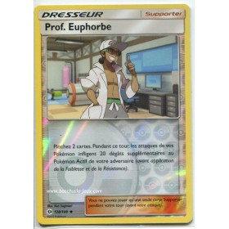 Carte Pokemon SL1 128/149 Prof. Euphorbe reverse