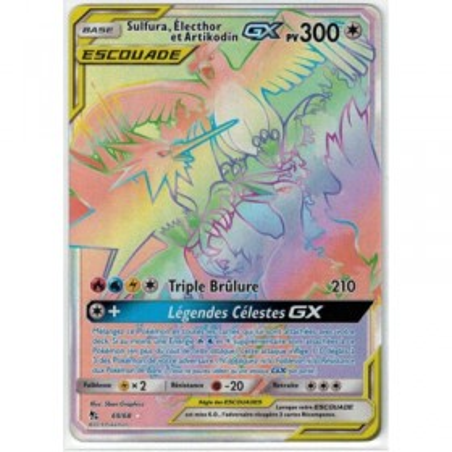 Carte Pokemon SL11.5 69/68 Escouade Sulfura, Electhor et Artikodin GX Secrete