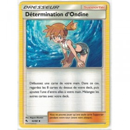 Carte Pokemon SL11.5 62/68 Determination d'Ondine