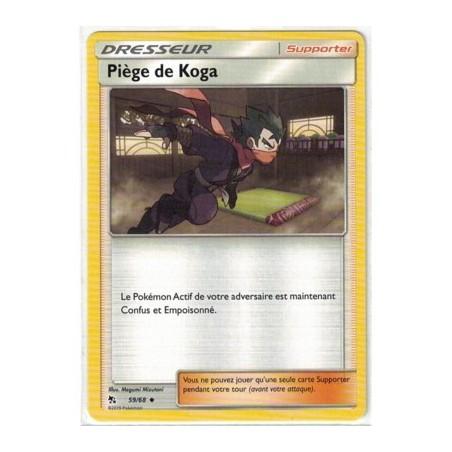 Carte Pokemon SL11.5 59/68 Piege de Koga