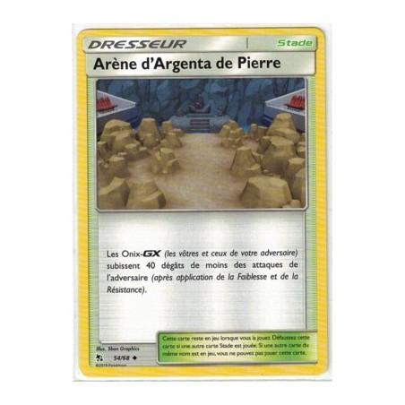 Carte Pokemon SL11.5 54/68 Arene d'Argenta de Pierre