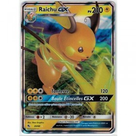 Carte Pokemon SL11.5 20/68 Raichu GX