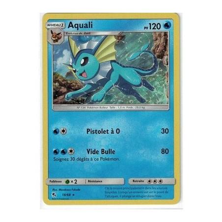 Carte Pokemon SL11.5 18/68 Aquali Holo