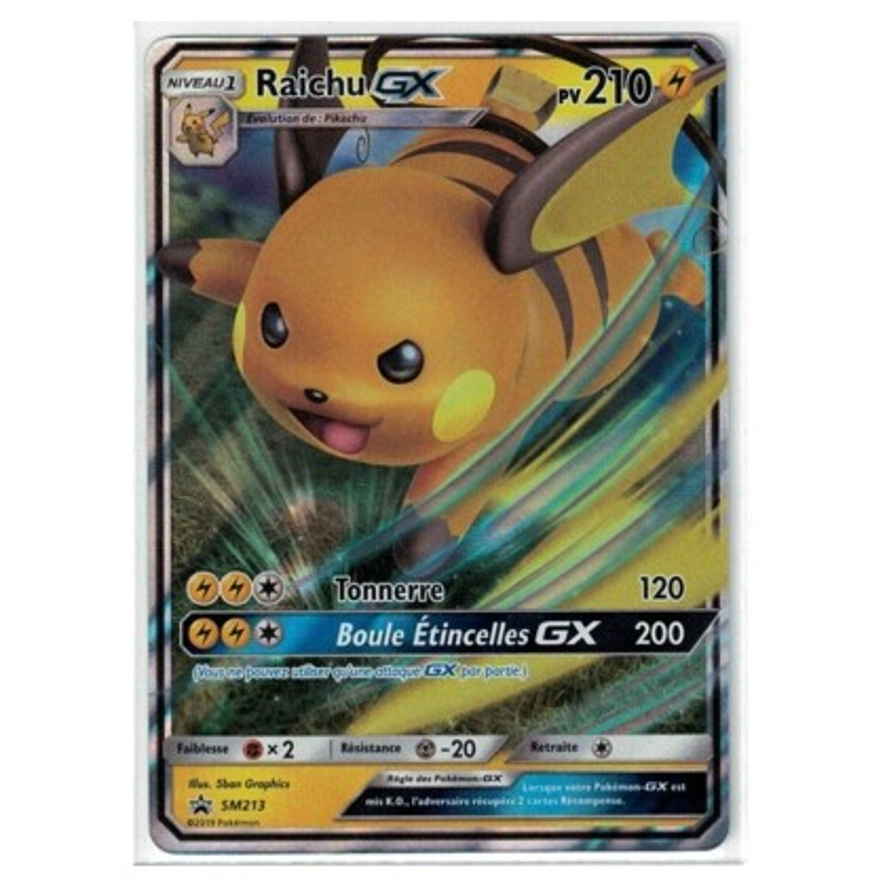 Pokemon Carte Promo Raichu SM213 Pokebox SL11.5