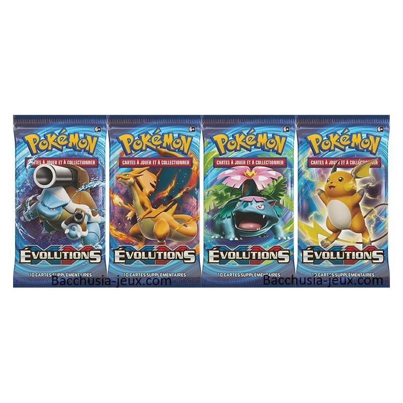 Pokemon Lot de 4 Boosters XY12 Evolutions