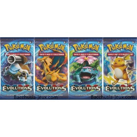 Pokemon Lot de 4 Boosters XY12 Evolutions