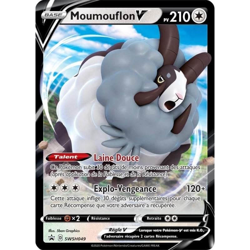 Pokemon Carte Promo SWSH049 Moumouflon V du Coffret EB3.5