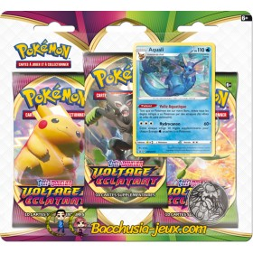 Pokemon Tripack EB04 Voltage Eclatant Aquali