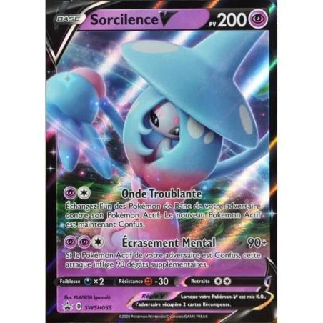 Pokemon Carte Promo SWSH055 Sorcilence V du Coffret EB3.5