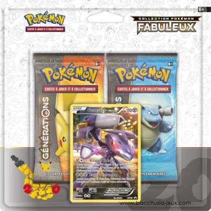 Duopack Generation Genesect Collection Pokémon fabuleux 20 ans