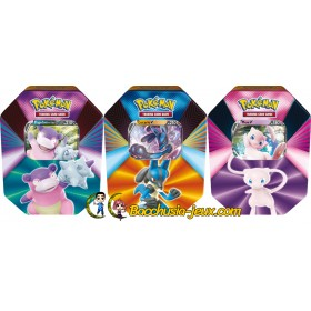 Pokemon Lot de 3 Pokebox - Flagadoss de Galar V, Lucario V et Mew V