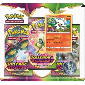 Pokemon Tripack EB04 Voltage Eclatant Flambino