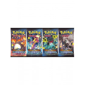 4 Boosters Pokemon Destinees Radieuses EB4.5