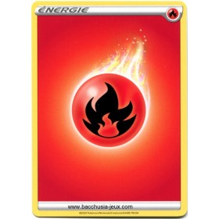 10 Cartes Pokémon Energie Feu série 3