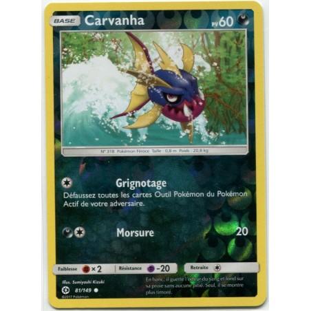 Carte Pokemon SL1 81/149 Carvanha Reverse