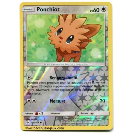 Carte Pokemon SL1 103/149 Ponchiot reverse