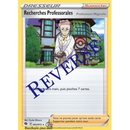 Carte Pokemon EB3.5 62/73 Recherches Professorales Holo Reverse