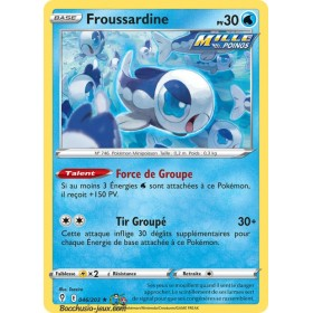 Carte Pokémon EB07 046/203 Froussardine