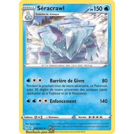 Carte Pokémon EB07 045/203 Séracrawl