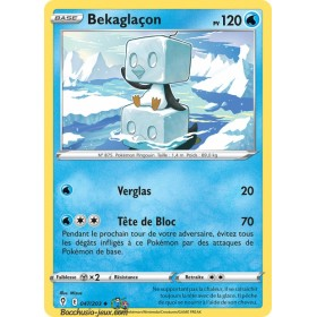 Carte Pokémon EB07 047/203 Bekaglaçon