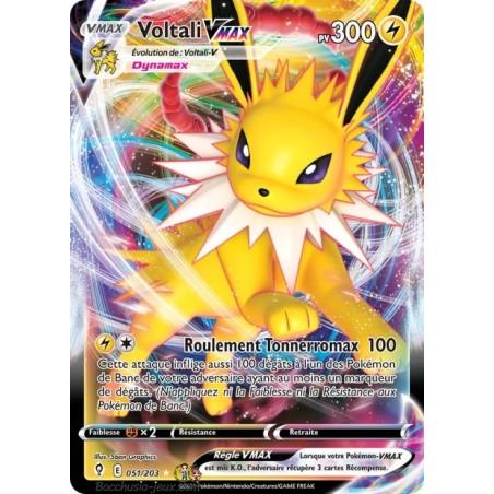 Carte Pokémon 051/203 Voltali V Max