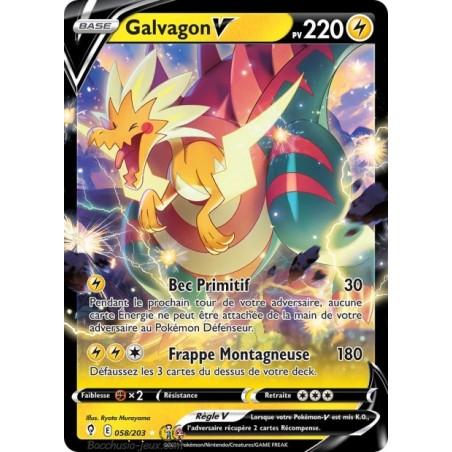 Carte Pokémon EB07 058/203 Galvagon V