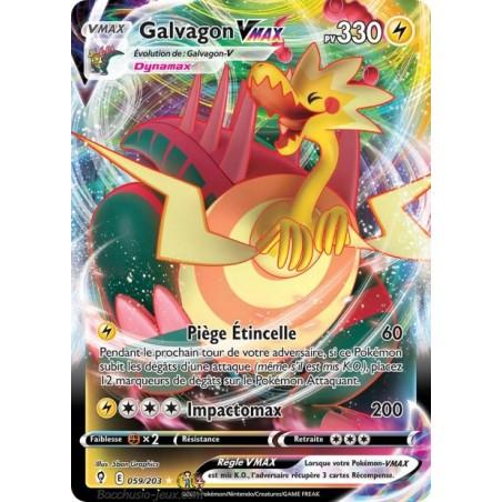 Carte Pokémon EB07 059/203 Galvagon V Max