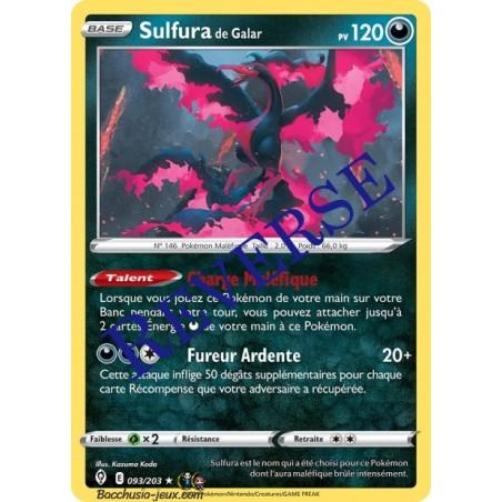 Carte Pokémon EB07 093/203 Sulfura de Galar Holo Reverse
