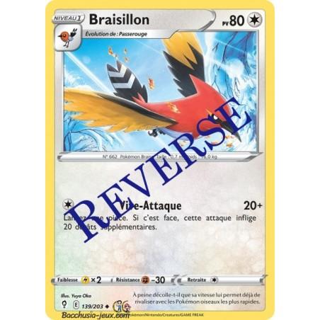 Carte Pokémon EB07 139/203 Braisillon Reverse