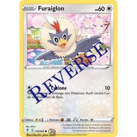 Carte Pokémon EB07 136/203 Furaiglon Reverse