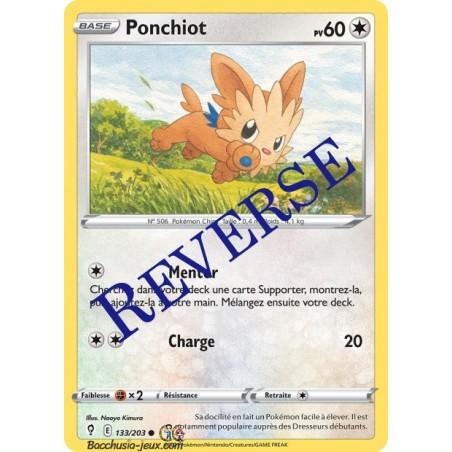 Carte Pokémon EB07 133/203 Ponchiot Reverse
