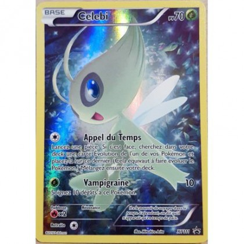 Carte Celebi XY111 Collection pokémon fabuleux