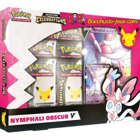Coffret Pokémon 25 ans Célébrations Nymphali Obscur V