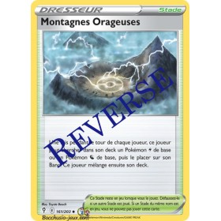 Carte Pokémon EB07 161/203 Montagnes Orageuses Reverse