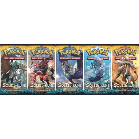 Pokémon 5 Boosters Soleil et Lune