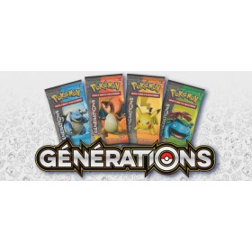 Lot de 4 boosters générations 20 ans , collection pokémon fabuleux