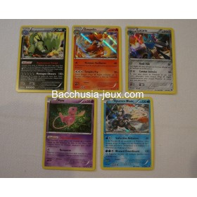 Lot de 7 cartes Holographiques XY9 Rupture turbo